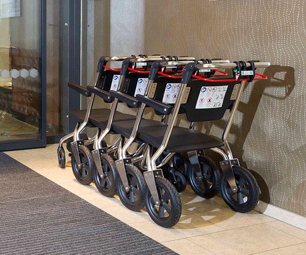 Einkaufzentrum Pfandsystem Shopping Stuhl